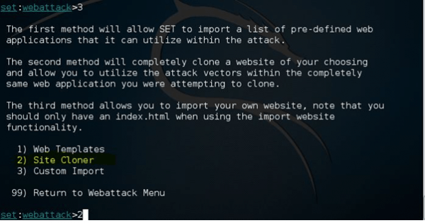 Phishing Attack using Kali Linux