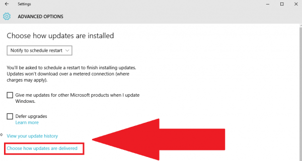 Steps to Share Updates on Windows 10