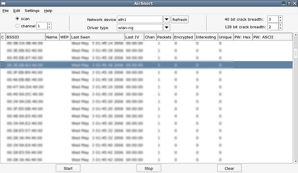 Download Airsnort WiFi hacking software