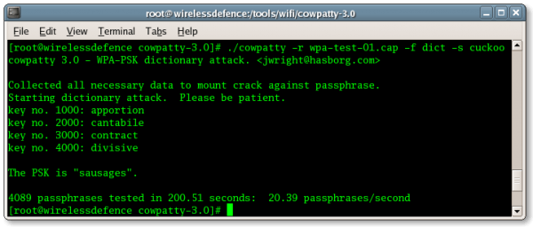 Download Cowpatty WiFi hacking Software