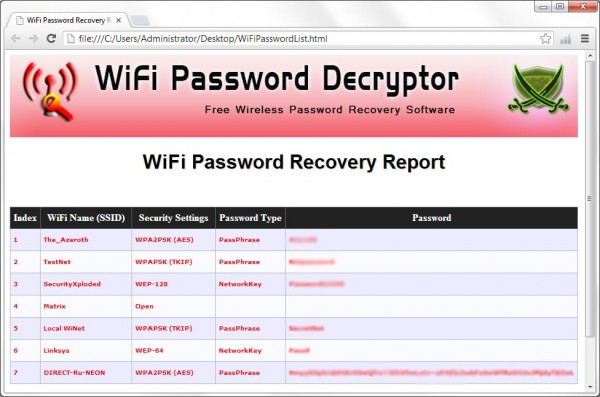 Download WiFi password decryptor WiFi hacking Software for free