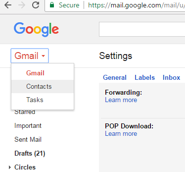 merge Outlook with Gmail account on Windows