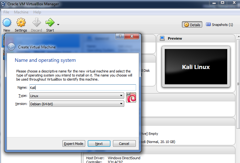 Simple Guide to Install Kali Linux through Virtual Box