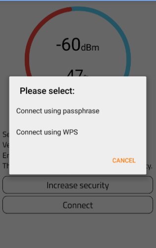 How to use wps connect on Android